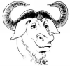 GNU logotype by Etienne Suvasa